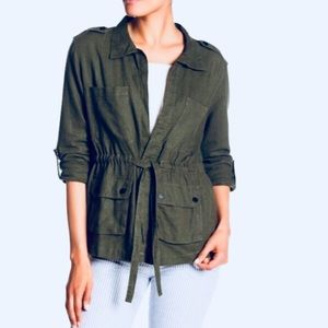 Sanctuary Military Drawstring Top And Jacket